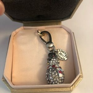 JUICY COUTURE Limited Edit 2011 Pave Snowman Charm